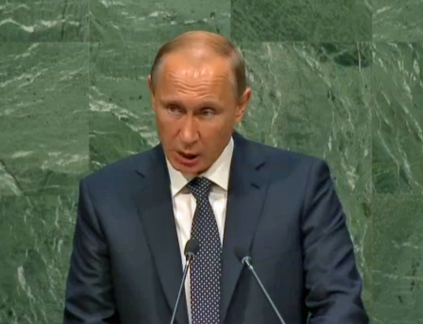 PUTIN AT THE UN STAGE 11 FOR RUSSIA LIES